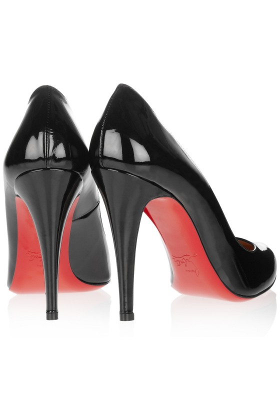 CHRISTIAN LOUBOUTIN Décolleté 100 patent-leather pumps £375 2